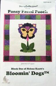 4x Quilting Kit H. KNOTT Bloomin' Dogs: Pansy, Orchid, Dianthus, Periwinkle-UD1