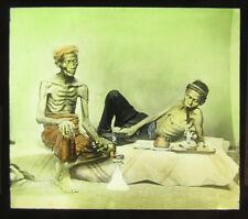 Plaque de Verre Positive Fumeur d'Opium Asie Vers 1900