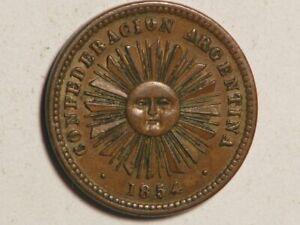 ARGENTINA 1854 1 Centavo XF-AU