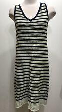 Joe Fress Vcut Sleeveless Knitted Crochette Women Dress Size Medium