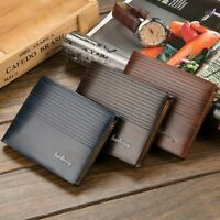 MENS WALLET LEATHER CREDIT CARD WALLET CHOICE OF BLUE  BROWN  OR COFFEE
