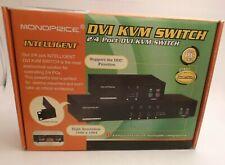 MONOPRICE 2/4 Port DVI KVM Switch - 120V - Prepaid Shipping (IC-1714-ID)