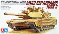 Tamiya 35326 US Main Battle Tank M1A2 SEP Abrams TUSK II 1/35 Scale Kit