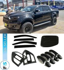 FORD RANGER RAPTOR 15-18 MATTE BLACK SIDE VENT DOOR WINDOW TRIM COVERS KIT SET