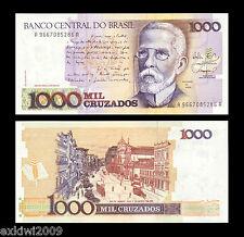 Brasil 1000 (1,000) cruzados p-213b 1st prefijo Perfecto Unc sin circulación los billetes de banco