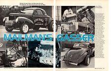 1941 WILLYS BB/GS GASSER / JOHN RHEA ~ ORIGINAL 2-PAGE ARTICLE / AD