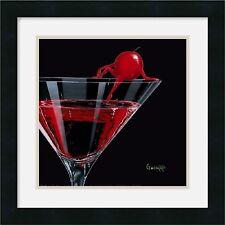 Michael Godard, Cherry Cosmo, Framed Art, W/Matting  18x18
