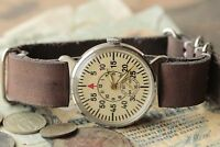 POBEDA watch Shturmanskie Russian Soviet USSR watch, leather strap style by Nato