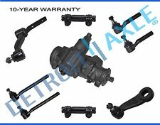 9pc: Steering Gearbox + Idler & Pitman Arm + Inner & Outer Tie Rod Links - 4x4