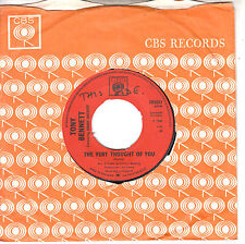 """7"""" 45 TOURS UK TONY BENNETT """"The Very Thought Of You / Sleepy Time Gal"""" 1965"""