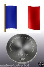 2x accumulatore Lir 2032, Pila a bottone AKKU Lir2032/Lir 2032 3,6 Volt (CR2032)