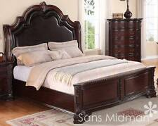 King Size 2 pc Sheridan Cherry Bedroom Set NEW Furniture! King Bed & Nightstand!