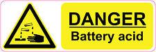 Ácido batería de Peligro Pegatinas signos de salud y seguridad advertencia 300 X 100 mm