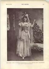 1898 Miss Grace Lane As Princess Badralbadour Theatre Royal Manchester