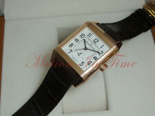 Jaeger LeCoultre Reverso Squadra Hometime AM/PM Rose Gold Silver Dial Q7002420