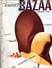 BAZAAR January 1938 CASSANDRE Man Ray Jean Cocteau Gary Cooper Chanel Mainbocher
