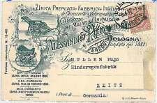 CARTOLINA d'Epoca BOLOGNA  - PUBBLICITARIA: CAROZZINE BAMBINI e DISABILI 1912