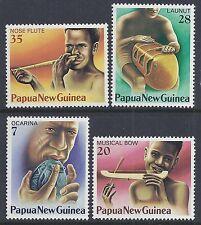 1979 PAPUA NEW GUINEA MUSICAL INSTRUMENTS FINE MINT SET OF 4 MNH/MUH