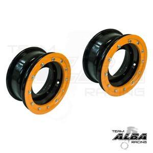 YFZ 450 YFZ 450R  Front Wheels  Beadlock  10x5  3+2  4/156  Alba Racing  B Orang
