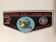 OA (BSA) Nayawin Rar #296 - 2015 Conclave Host Flap - 100th Anniversary (White)