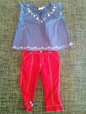 Gorgeous Outfit 'Piping Hot' Top & 'Pumpkin Patch' 3/4 Pants - Size 5