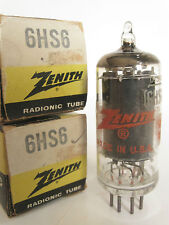 One 1960's RCA/Zenith genuine 6HS6 radio tube - New Old Stock / New In Box