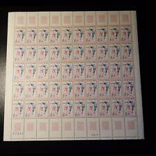 FEUILLE SHEET TIMBRE CHAMPIONNATS ATHLÉTISME N°1650 x50 NEUF ** LUXE MNH