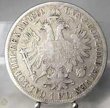 1 Florin (Gulden) 1859 B, Franz Joseph, Silber