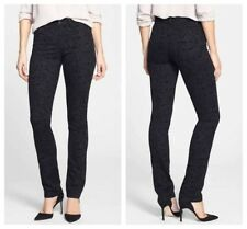 NEW NYDJ Not Your Daughters Jeans Black Medallion Slim Straight Pant Size 8