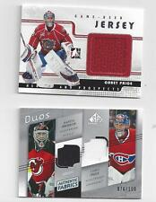 CAREY PRICE PLUS MARTIN BRODEUR  JERSEY CARD LOT