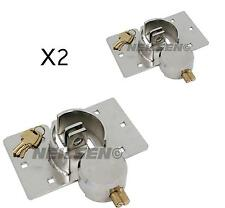 Round van twin door padlock and hasp lock HIGH SECURITY garage repair 73mm PAIR