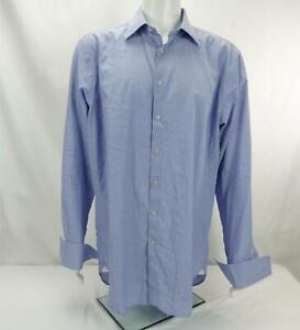 Thomas Pink London Classic Fit Dress Shirt Button Down Blue Men's Size 17.5
