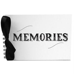 Ribbon, Swirl Memories, Photo Album, Scrapbook, Blank White Pages, A5