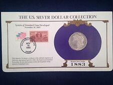 1883 Morgan Silver Dollar - U. S. Postal Commemorative Stamp Set, Rare 3c stamp