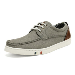 Mens Fashion Casual Shoes Lightweight Canvas Walking Shoes Boat Shoes