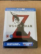 WORLD WAR Z 3D Entertainment Store Exclusive Bluray Steelbook BRAND NEW & SEALED