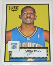2005/06 Chris Paul Hornets NBA Topps 1952 Style Fac. Auto Rookie Card #154 NM