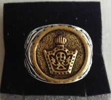 E-MIDDLE EAST,STUNNING IMPERIAL CROWN RING,SIZE UK S,US AND CANADA 9 1/4.9.4 GR