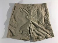 The North Face Mens Shorts Size 38 Light Khaki Color Ripstop Hiking Cargo