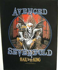 "AVENGED SEVENFOLD RÜCKENAUFNÄHER / BACKPATCH # 8 ""HAIL TO THE KING"""