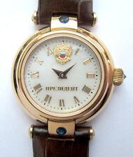 Russian WATCH PRESIDENT women's wrist watch mother of pearl dial