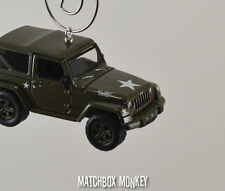 2014 US Army Jeep Wrangler Military Custom Christmas Ornament 1/64 Adorno SUV