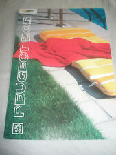 Peugeot 205 color line brochure c1991 texte allemand
