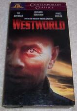 Westworld VHS Video Yul Brynner Richard Benjamin James Brolin