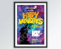 HAPPY MONDAYS Live in Ibiza 1990 REIMAGINED Poster A3 size.