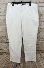Gloria vanderbilt white jeans 18 short womens new tapered classic fit O5