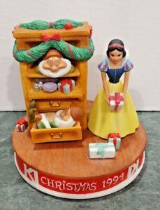 Disney Christmas Snow White Christmas Dreams 1994 Figurine Grolier Limited Ed