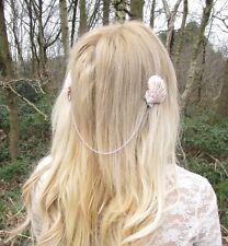 Silver Sea Shell Mermaid Crown Hair Clip Headpiece Head Chain Headband Boho 2483