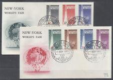 CONGO BELGE FDC 34-35 - EXPOSITION UNIVERSELLE DE NEW YORK - 1965 LUXE