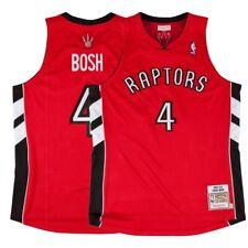 2003-04 Chris Bosh NBA Toronto Raptors Mitchell & Ness Authentic Away Red Jersey